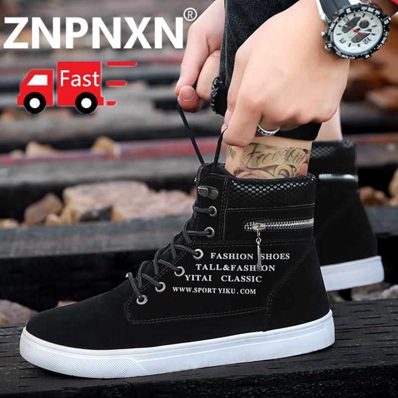 ZNPNXN Pria Sneakers Sshoes Mode untuk Pria Sepatu Baru Sepatu Bot Martin Ukuran 39-44