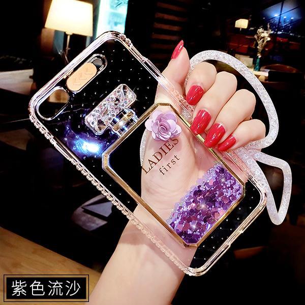 IPHONE 6 Casing HP tali gantungan perempuan transparan iPhone6 casing silikon pasang kepribadian Lampu Menyala Panggilan Masuk 6 splus anti jatuh Bungkus Penuh