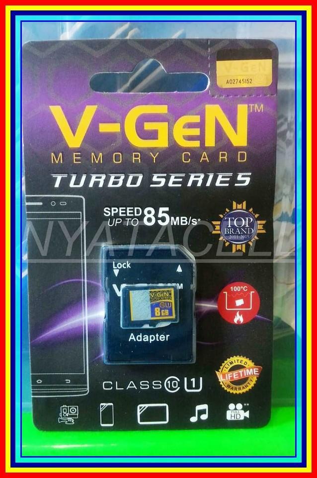 Grosir Memory Vgen 8Gb Class 10 Micro Sd Hc Card Memori Kelas 10 8 Gb 10 Pcs