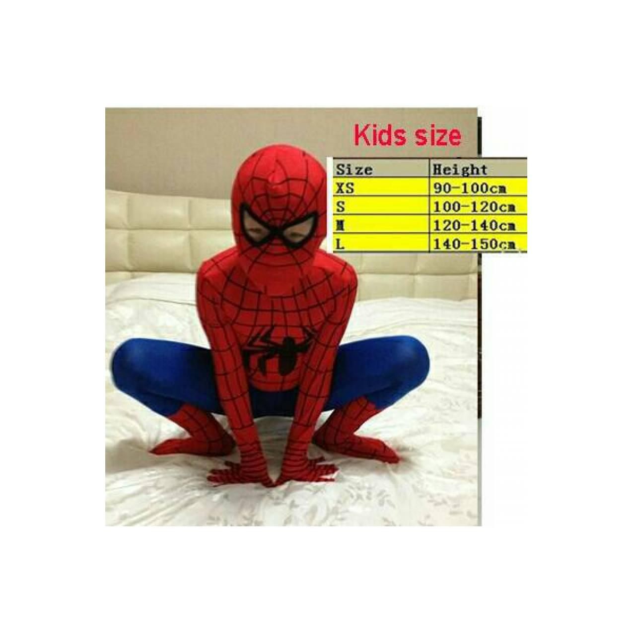 Baju kostum superhero Spiderman anak