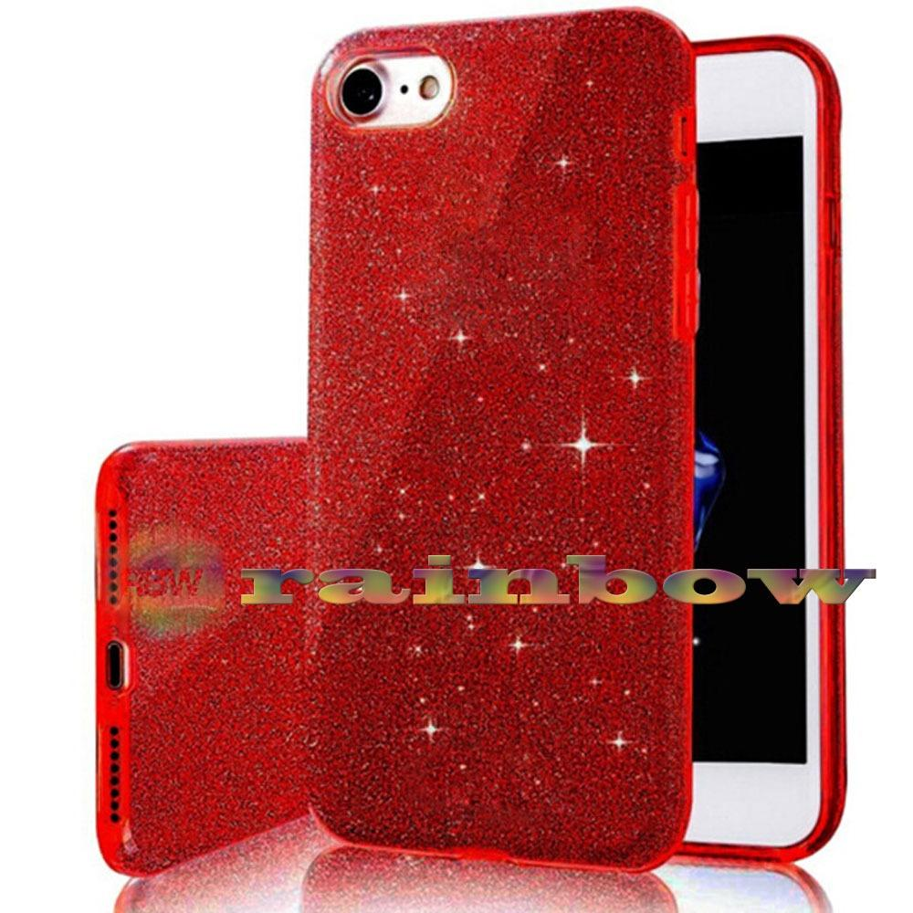 Rainbow Soft Case Sparkle Oppo A57 (3 in 1) / Sparkle Phone Cases Red / Jelly Case Silikon Oppo A57
