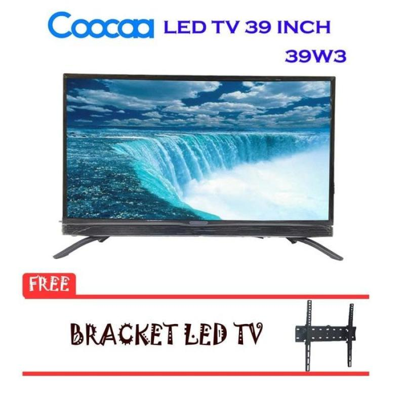 COOCAA 39W3 LED TV Layar 39 inch USB Movie Plus Bracket Tv