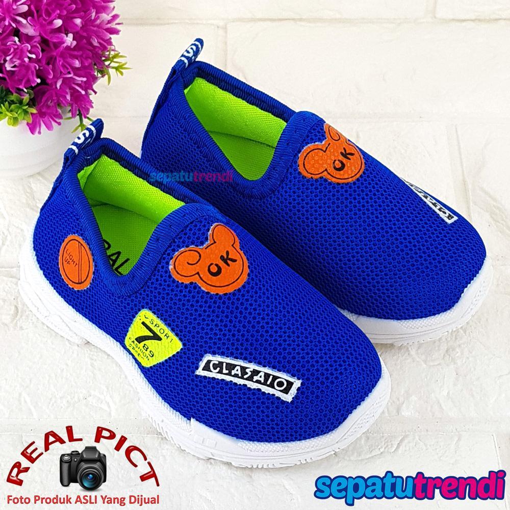 Sepatu Anak Laki Slip On Fashion Import MKSP Sepatu Trendi Sepatu Anak Bayi Cowok Murah Berkualitas Bagus