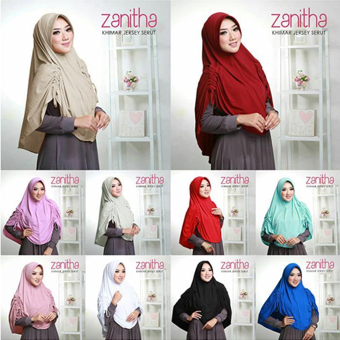 Khimar Jersey Serut Zenitha  A0371