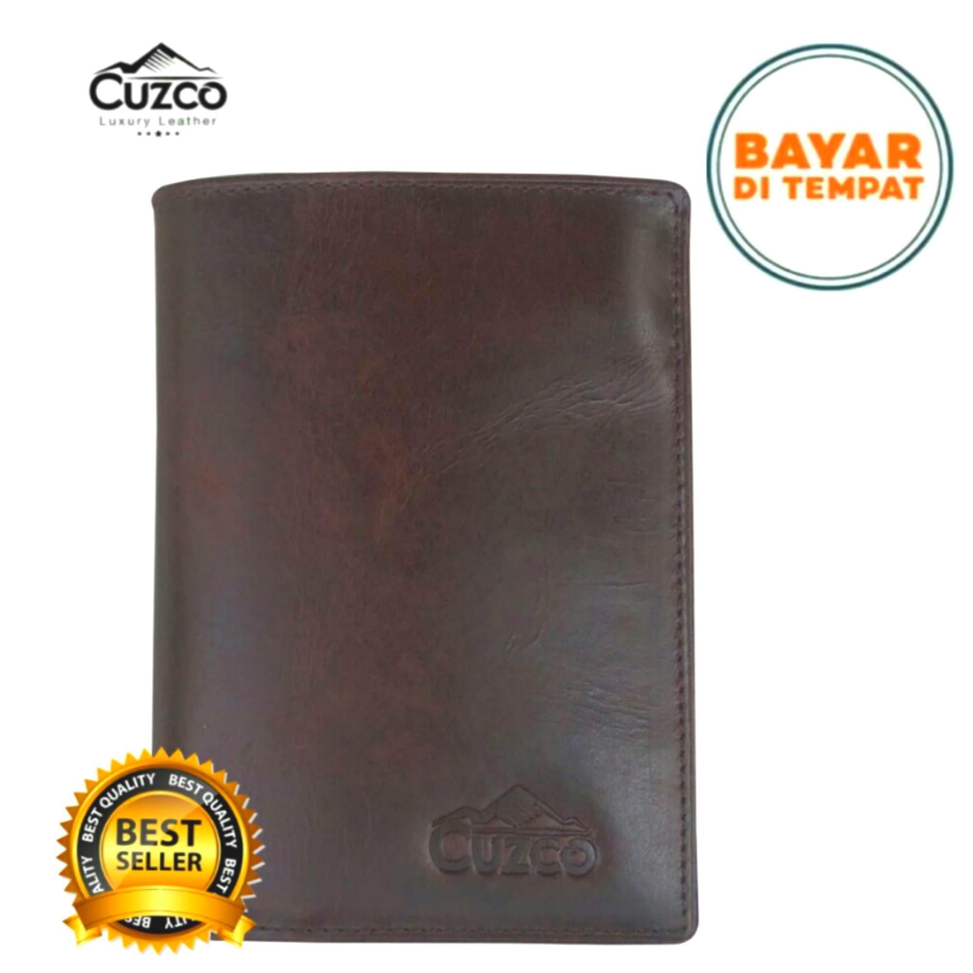 Cuzco - Dompet Kulit 3/4 Pria - Coklat- Kulit Asli - Pull Up- Kulit Pria By Tiger Leather