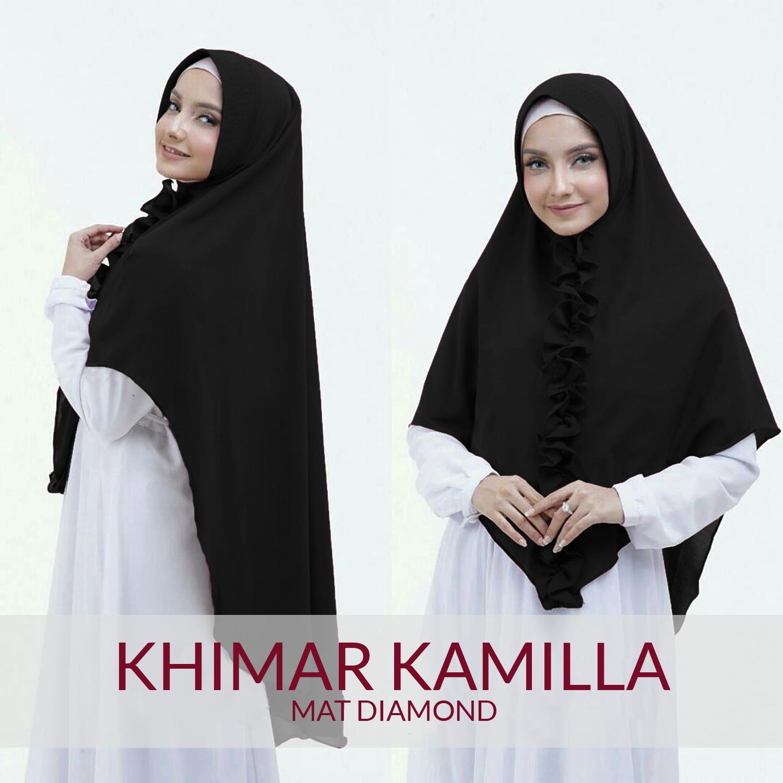 Merina Hijab Instan Jilbab Khimar Kamilla / Khimar Kamila [Navy]