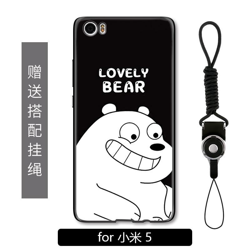 Lima Selubung Ponsel Imut Beruang Putih Selubung M5splus Sederhana