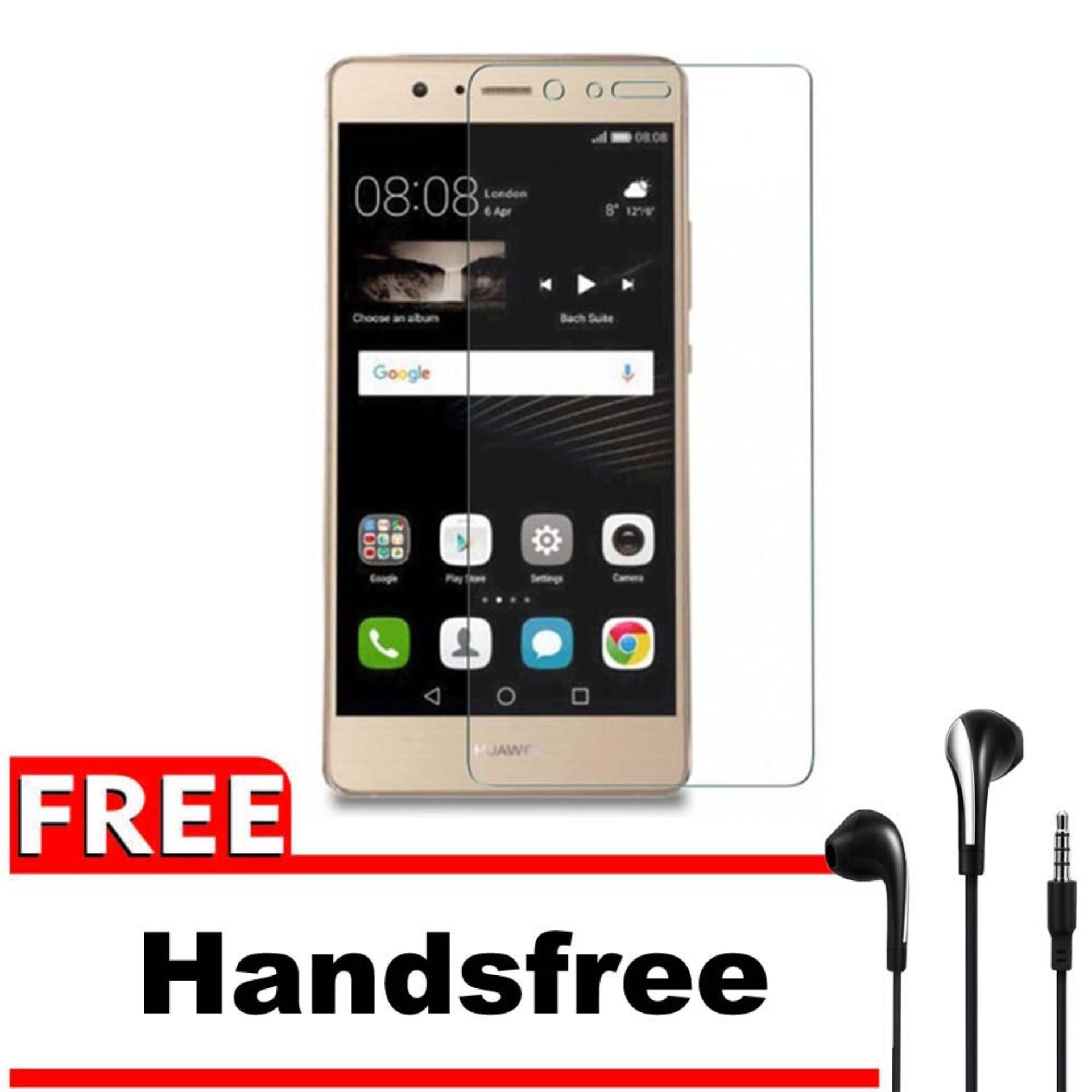 Vn Huawei Ascend GR5 / GR 5 / GR5W / Honor 5X / LTE Tempered Glass 9H Screen Protector 0.32mm + Gratis Free Handsfree Earphone Headset Universal - Bening Transparan