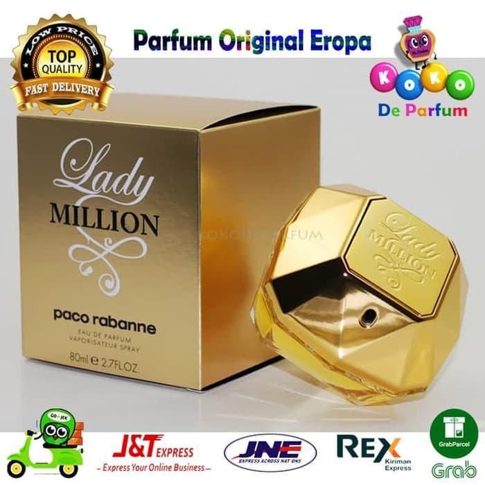 Parfume Wanita Ori Eropa Paco Rabanne Lady Million Mini 50m Ori Riject