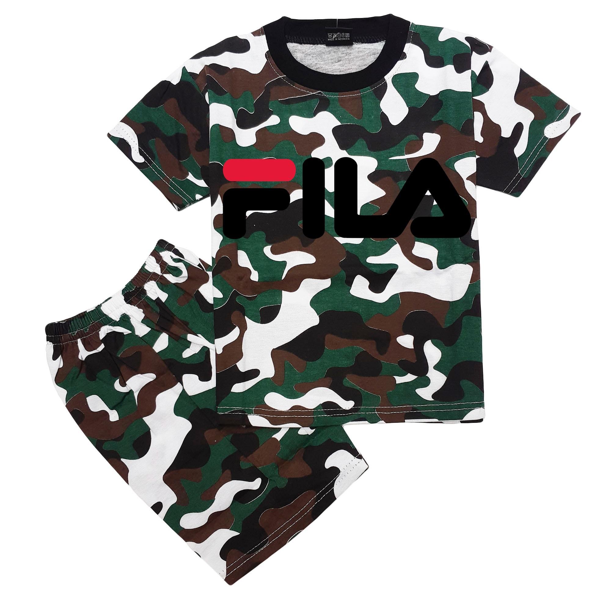 HM Baju Setelan Anak Army Loreng