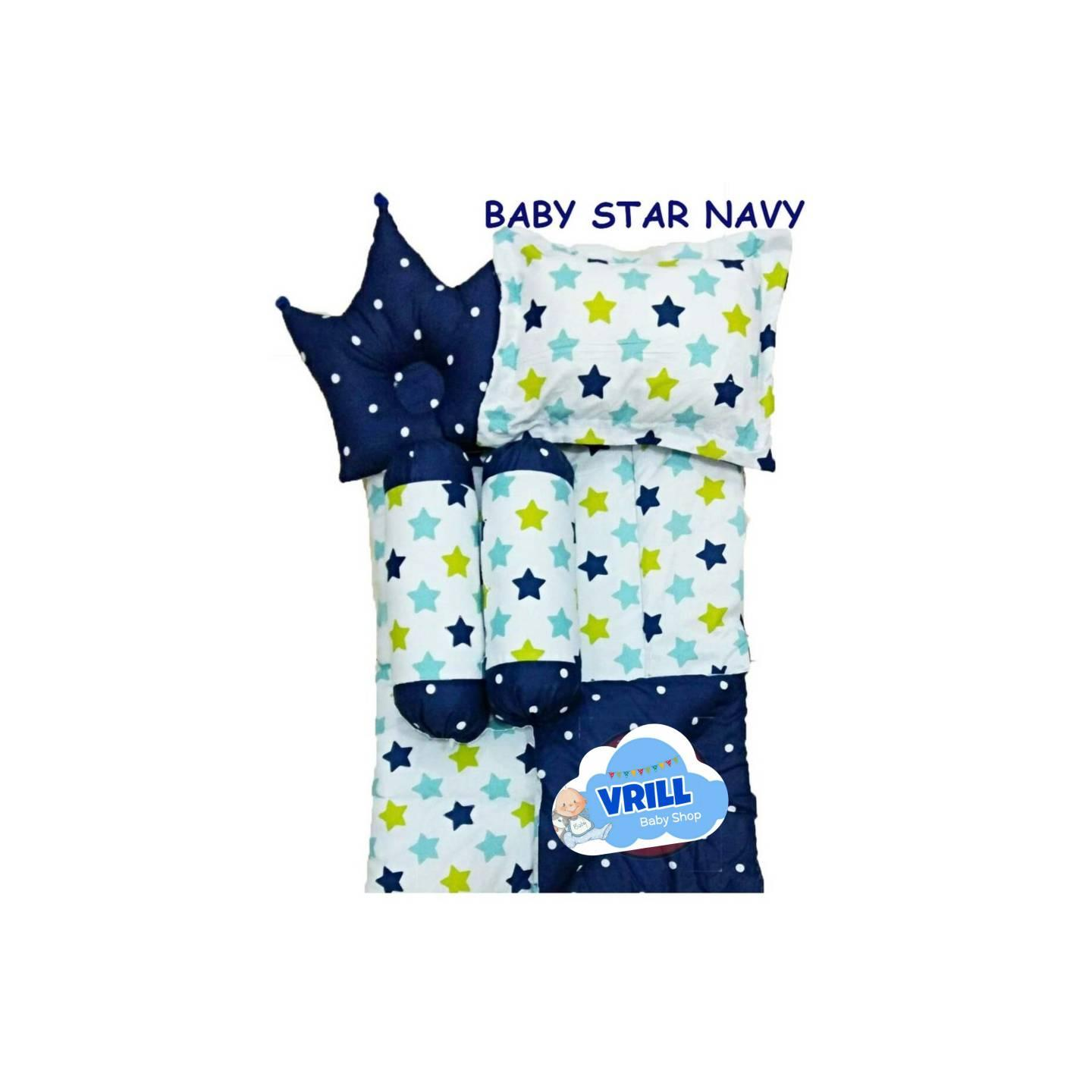 Bedcover Set bayi | baby bedding set | selimut bantal baby star