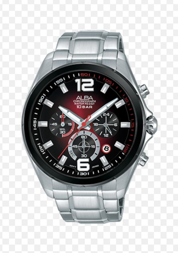 Alba AT3B49X1 Chronograph Men Dual Color Dial Stainless Steel Strap