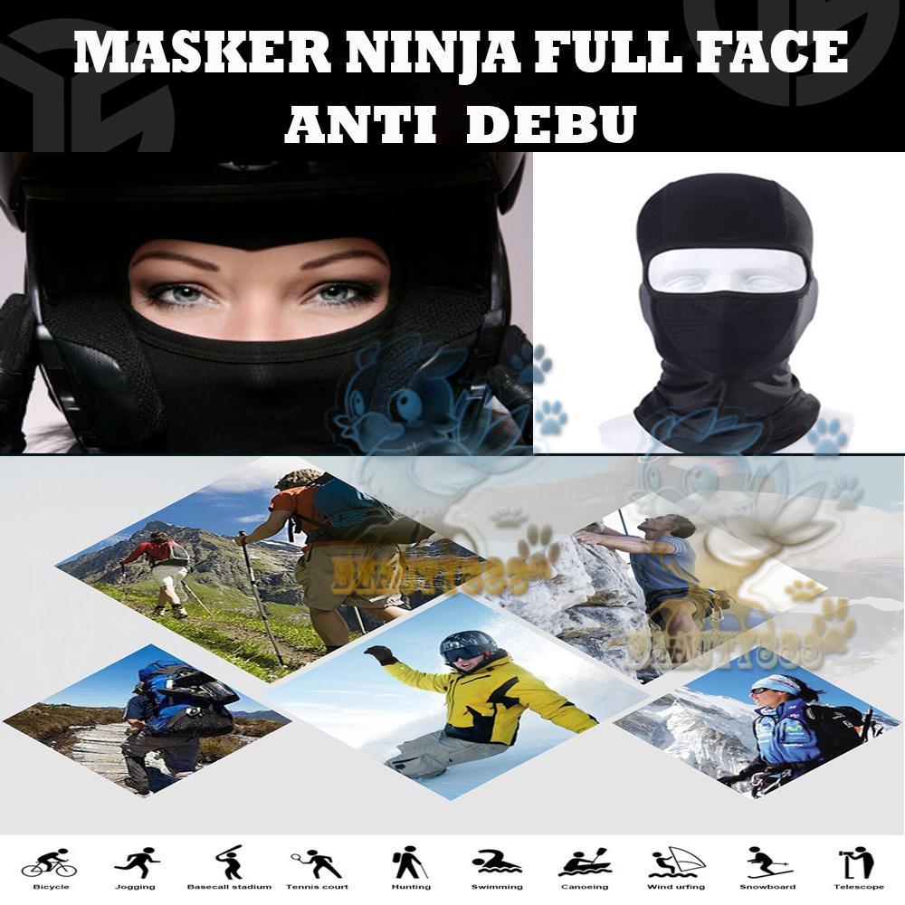 Beauty Masker Motor Topeng Ninja Sarung Kepala Helm / Masker Ninja Anti Debu Topeng Ninja Sepeda Motor Cover Pelindung Rambut Pelindung Kepala ...