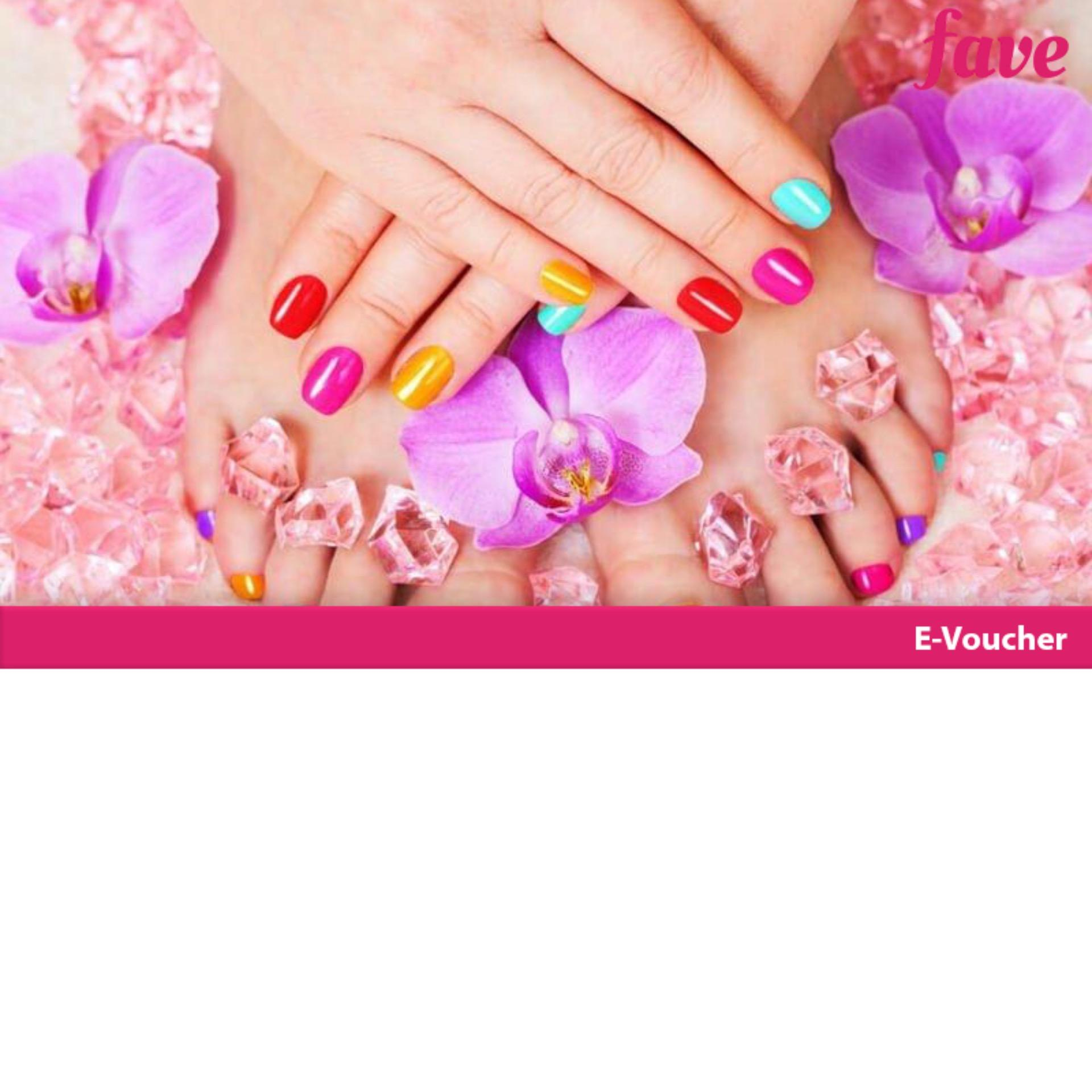 [mall Ambassador] Aurel Hair & Beauty 1x Manicure / Pedicure Free Nail Gel/nail Art By Fave Indonesia.