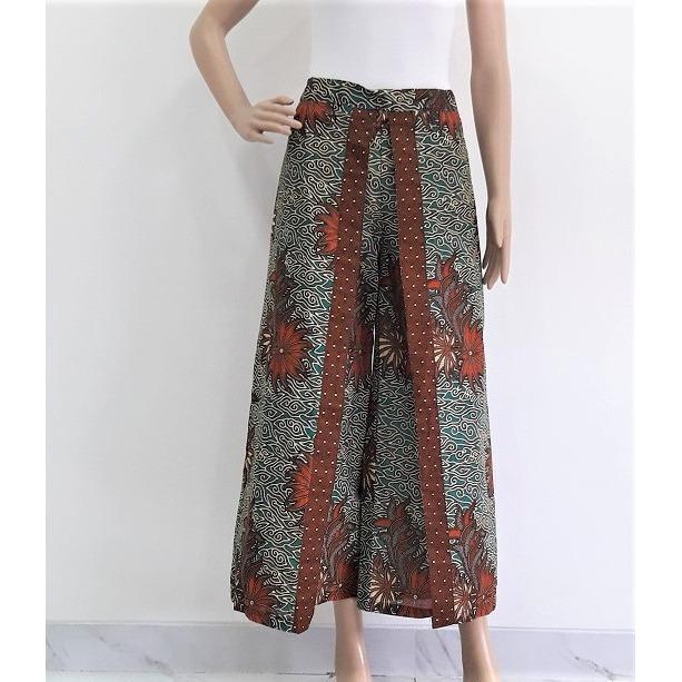 Pitakita Celana Batik Kulot Panjang Lolita L05-Hijau