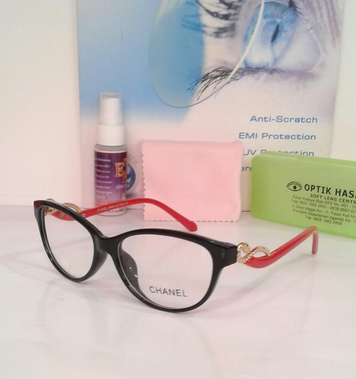 Promo!  Kacamata Frame Hugo Boss + Anti UV + Lensa Normal + Kualtas Premium Teatas!