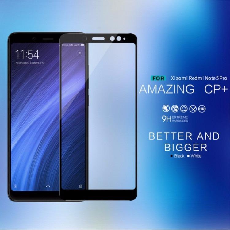HMC Xiaomi Redmi Note 5 Pro Tempered Glass - 2.5D Full Screen - Lis Black