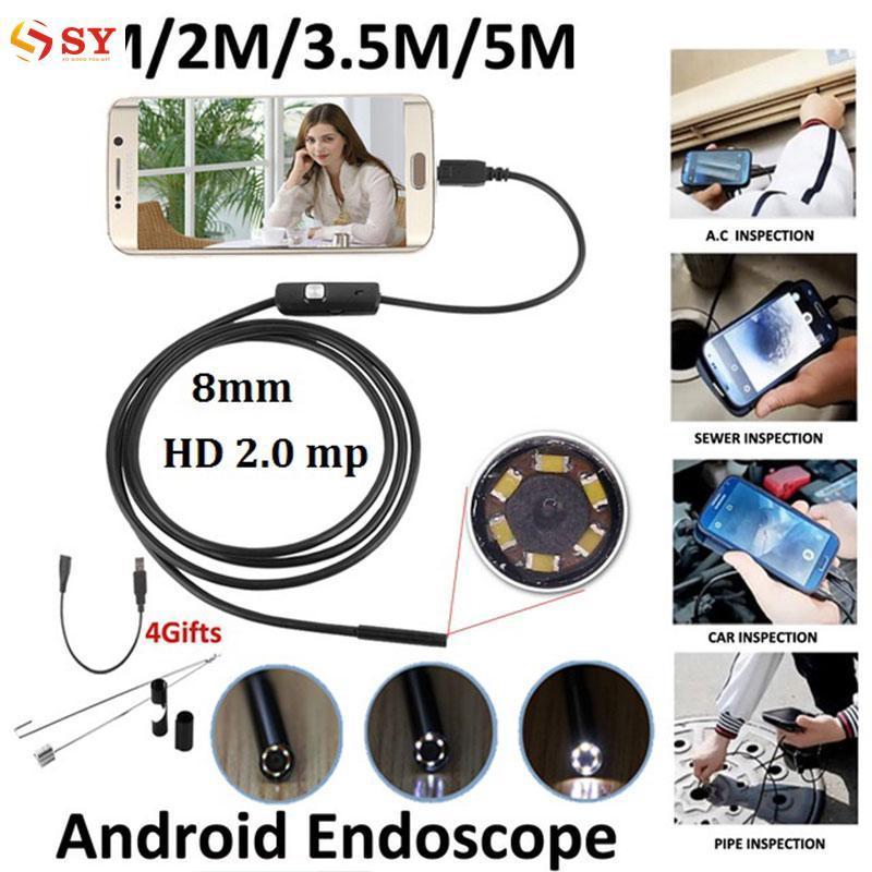 Jadi Young 3.5 M 8 Mm Android OTG Telepon 2MP Endoskop Tahan Air LED Kamera Borescope-Intl