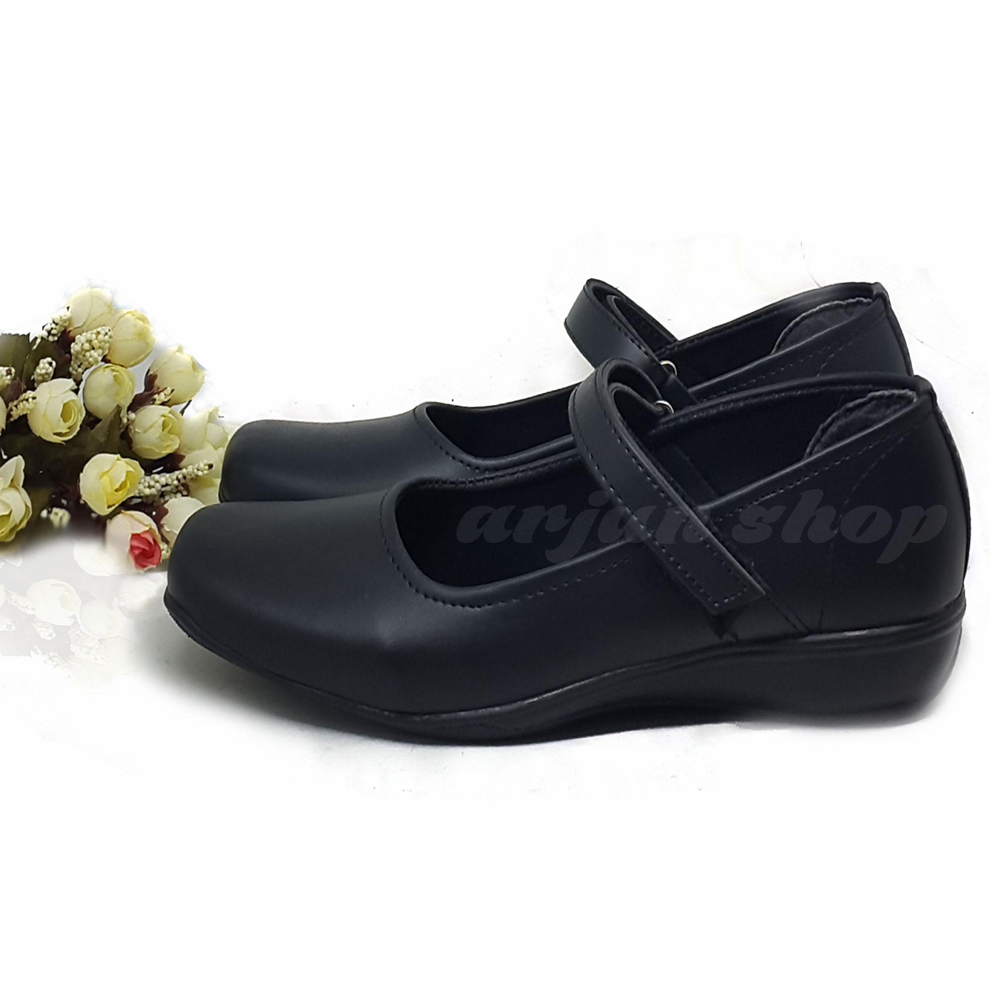Sepatu Fantofel Paskibra Sepatu Sekolah Formal Wanita 007 - Hitam