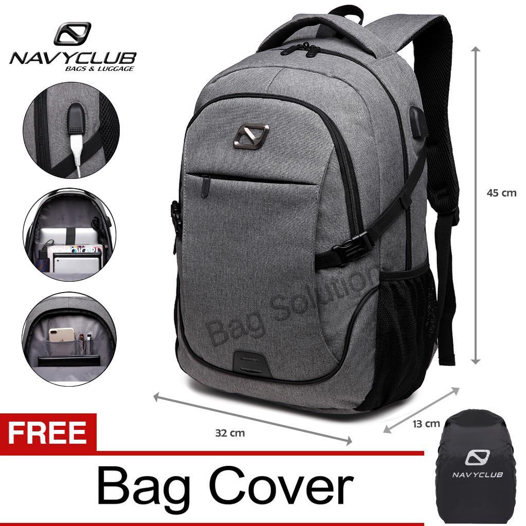 Tas Pelindung Laptop Berkualitas Sepeda Waterproof Navy Club Ransel Pria Wanita Punggung Backpack Built In