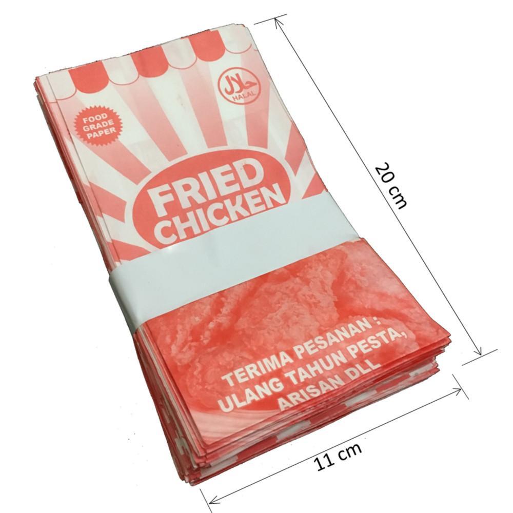 Spesifikasi dari Kantong Kertas - Kantong Makanan - Kantong Kertas Fried Chicken - Paper Bag - Food Grade - 250PCS