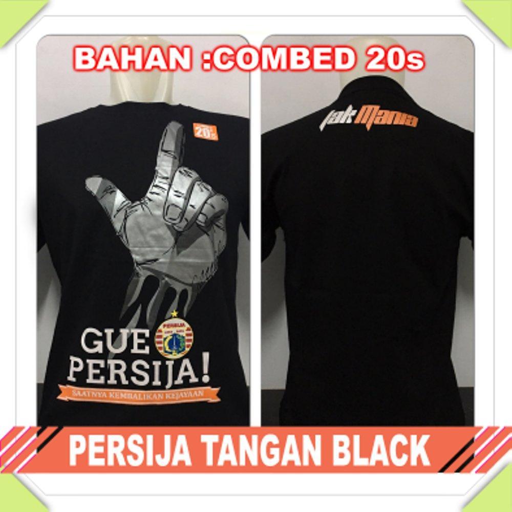 kaos persija Jakarta tangan the jak mania combed hitam baju distro t shirt grosir murah di lapak Zuperone mart superone