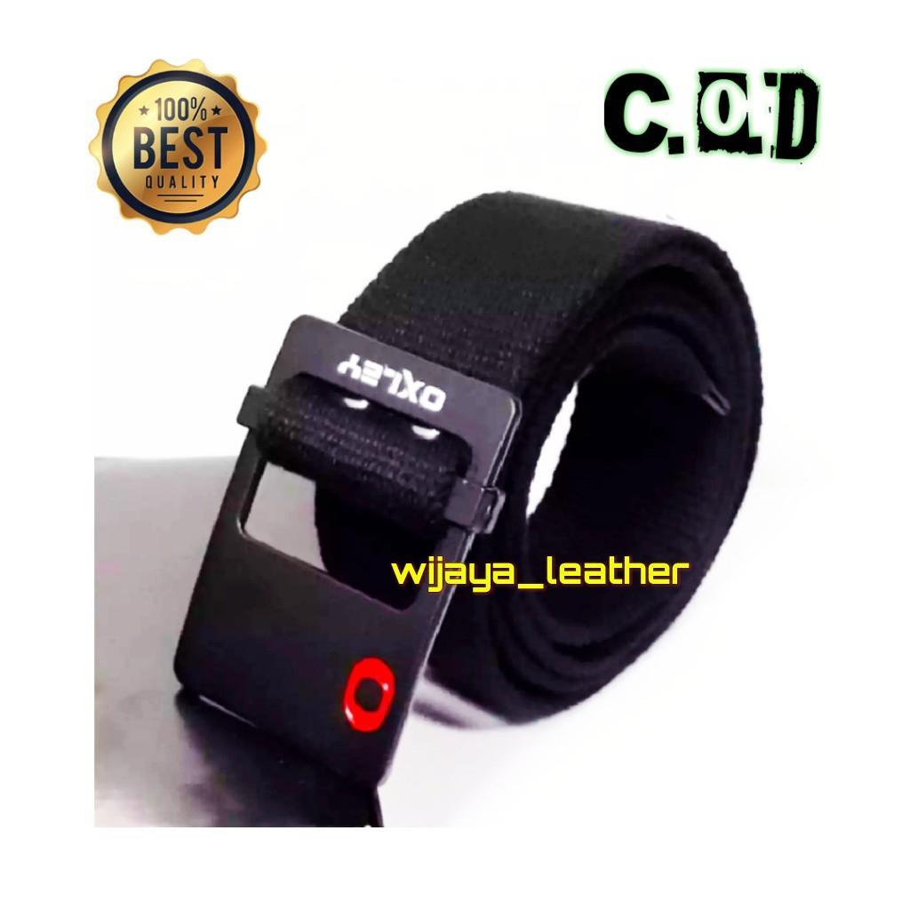 GESPER PRIA - Ikat pinggang pria OXLEY Canvas Denim hitam - wijaya_leather