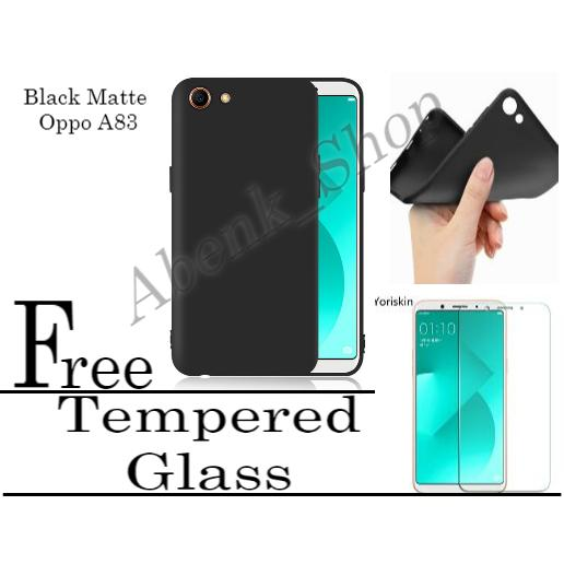 Case Slim Black Matte For Oppo A83 Hitam Doof Free Tempered Glass Spirit_Store