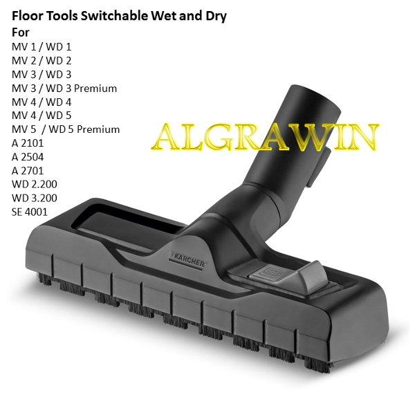 Karcher Floor Nozzle  Switchable Wet and Dry For MV WD1 WD2 WD3 WD4 WD5