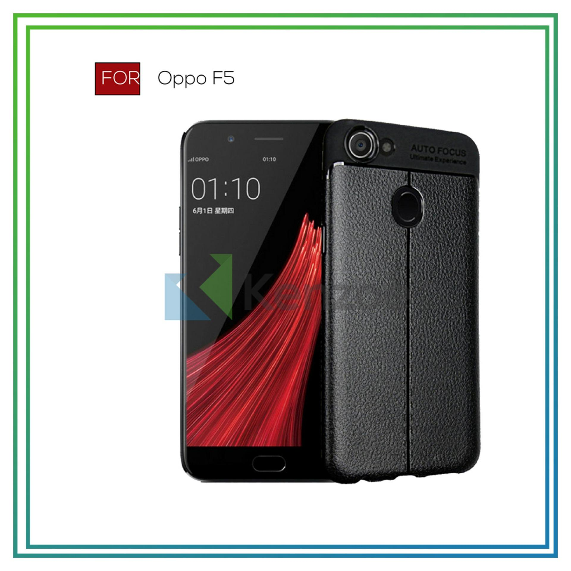... Free Tempered Glass. Source · Kenzoe Case Premium Ultimate Shockproof Leather Case For OPPO F5 - Black