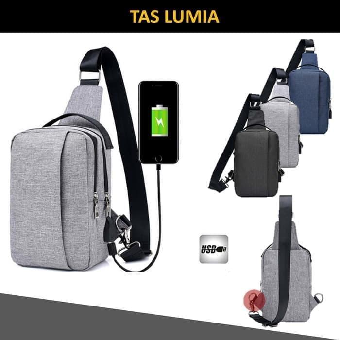 Tas Slempang / Selempang Anti Air Kanvas SPEN USB Sling Bag Canvas Vr2 / tas slempang terlaris/ sle