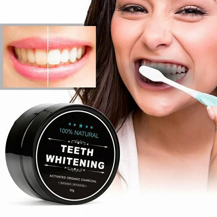 Charcoal Powder Activated Teeth Whitening Pot - Pemutih Gigi Paling Ampuh By Oleholehyk.