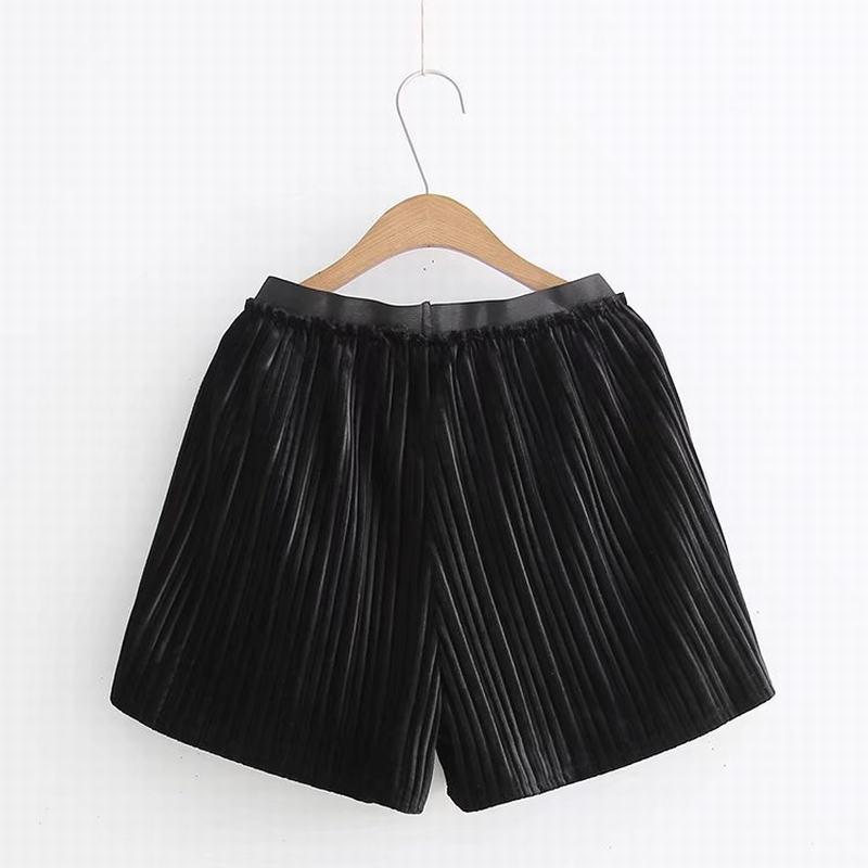 MM Celana Pendek Gemuk Rok Lipit Kulot Perempuan Ikat Elastis (6066-Abu-abu)