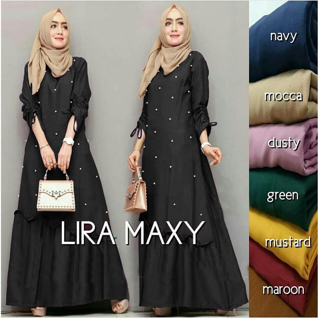 Ayako Fashion Gamis Wanita Terbaru   Baju Muslim Wanita Nidali Maxy (9  Warna) 1832c477a9