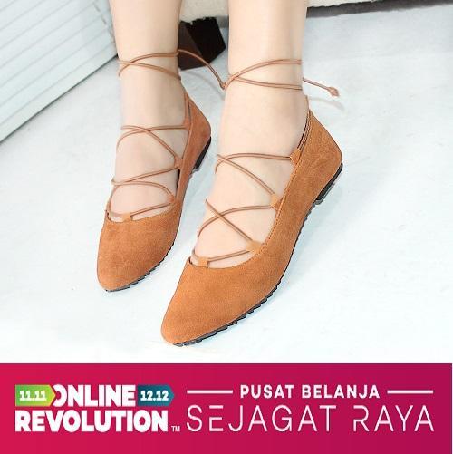 Ellen Taslim - Flat Shoes Balerina / Flat Shoes Gladiator / Balet Tali Panjang / Flat Shoes Italy