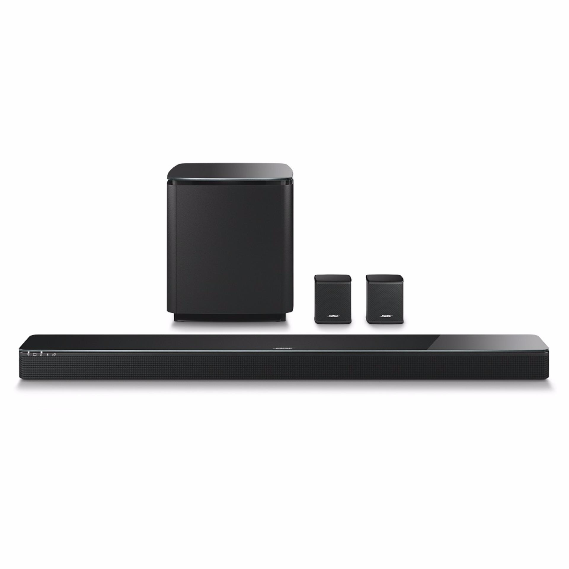 Bose SoundTouch 300 Soundbar + Acoustimass 300 Wireless + Virtually Invisible 300 Wireless Home Theater System