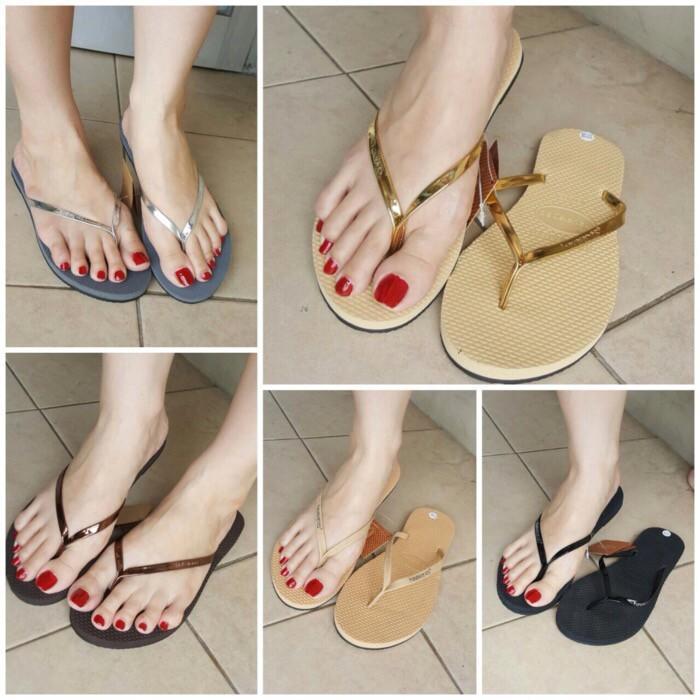 Promo Sandal Flat Jepit Wanita Women Havaianas Sendal Import Gratis Ongkir
