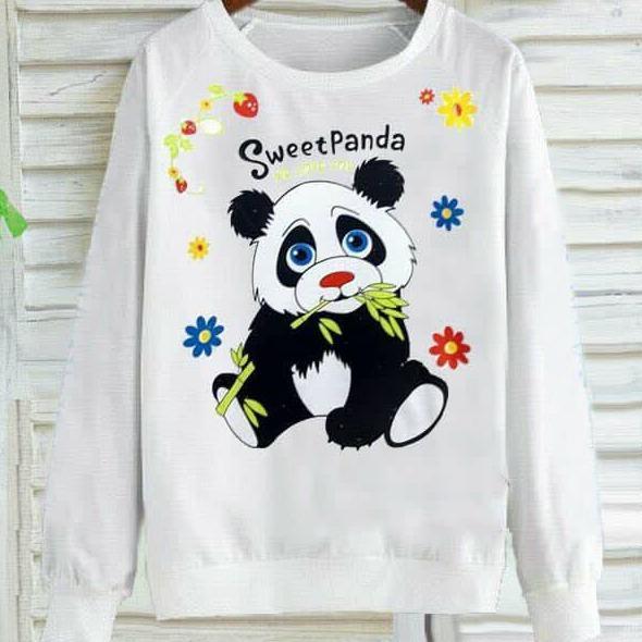 tokolobo sweater sweet panda putih
