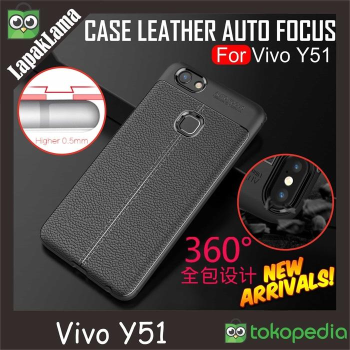 Case Leather Auto Focus Original Vivo Y51 Y51L Softcase Back Casing