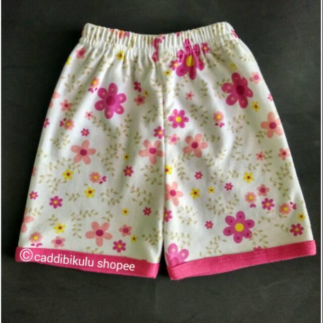 Pipiniko Size S Celana Pendek Bayi Pink Flower
