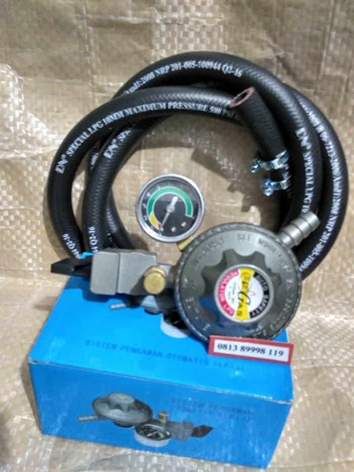 ORIGINAL Regulator Gas Safety Lock Pertamina Model SLE 788 MSelang LPG 500 PSI