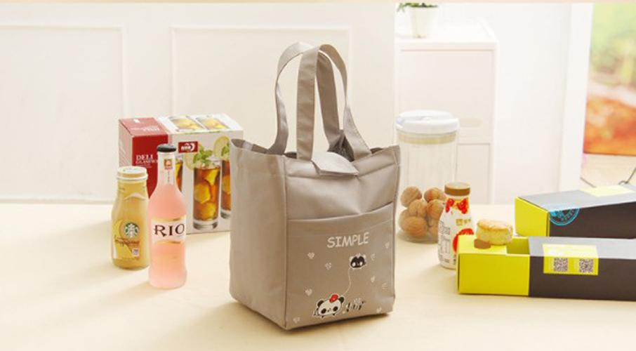 TM012 - Word Lunch bag /Cooler bag /Tas Bekal Motif Tulisan Velcro