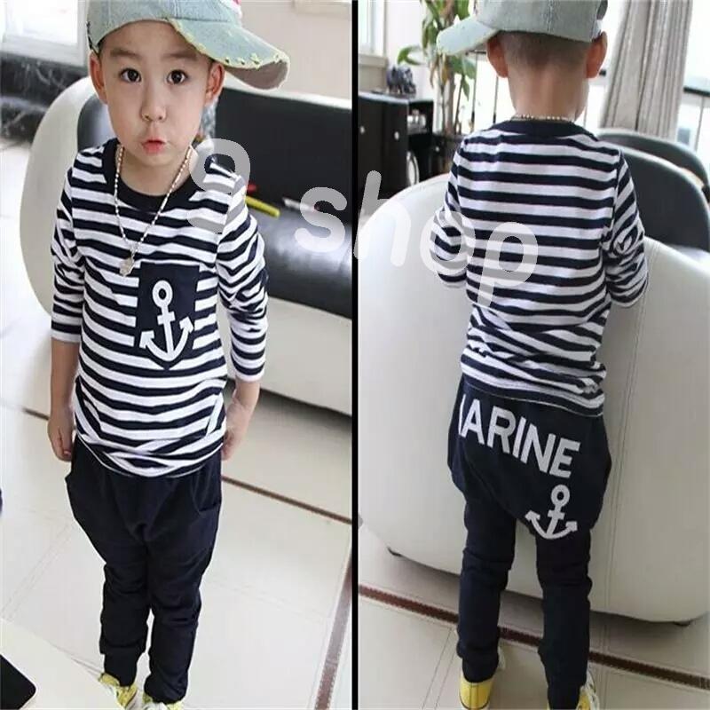 9 Shop Setelan Baju Atasan dan Celana Panjang Anak Cowok MARINE   Setelan Anak  Laki- 832b55e445