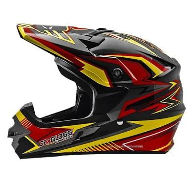 Helm Cargloss MXC Supertrack Red Yellow Cross