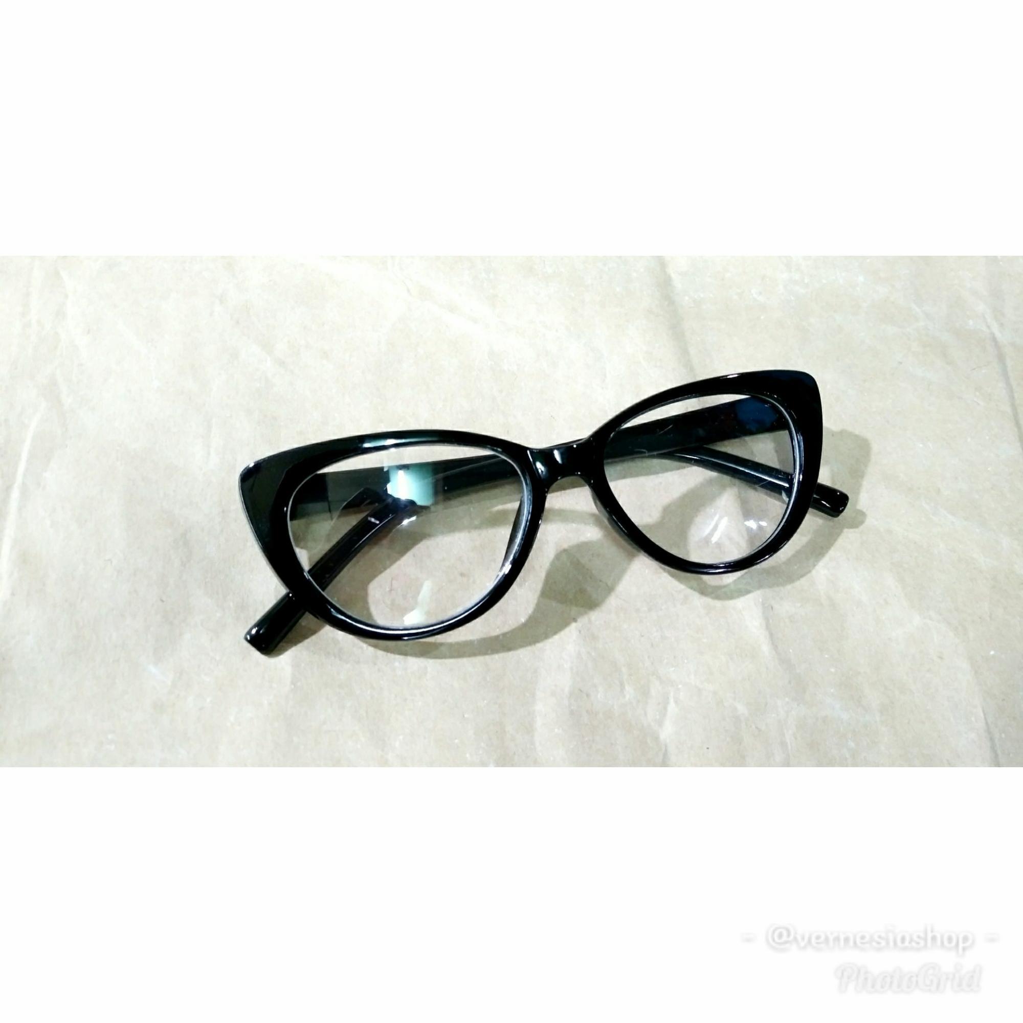 Kacamata gaya anak model mata kucing lensa bening 7c08732850