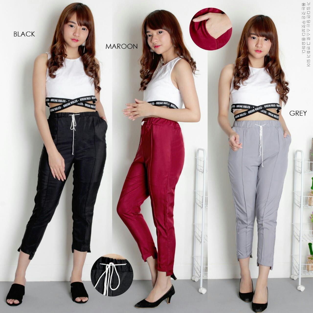 J&C Savero Pants / Celana Twistcone Wanita / Celana Wanita / Celana Bahan Twiscone / Celana Santai Wanita / Celana Kasual / Casual Pants