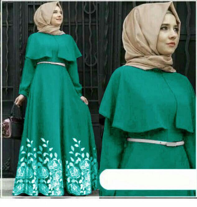 Popdesign Dress Muslim Wanita Andiani   Baju Gamis Mulim Terbaru   Maxi  Hijab Dress Wanita   e7c0285183