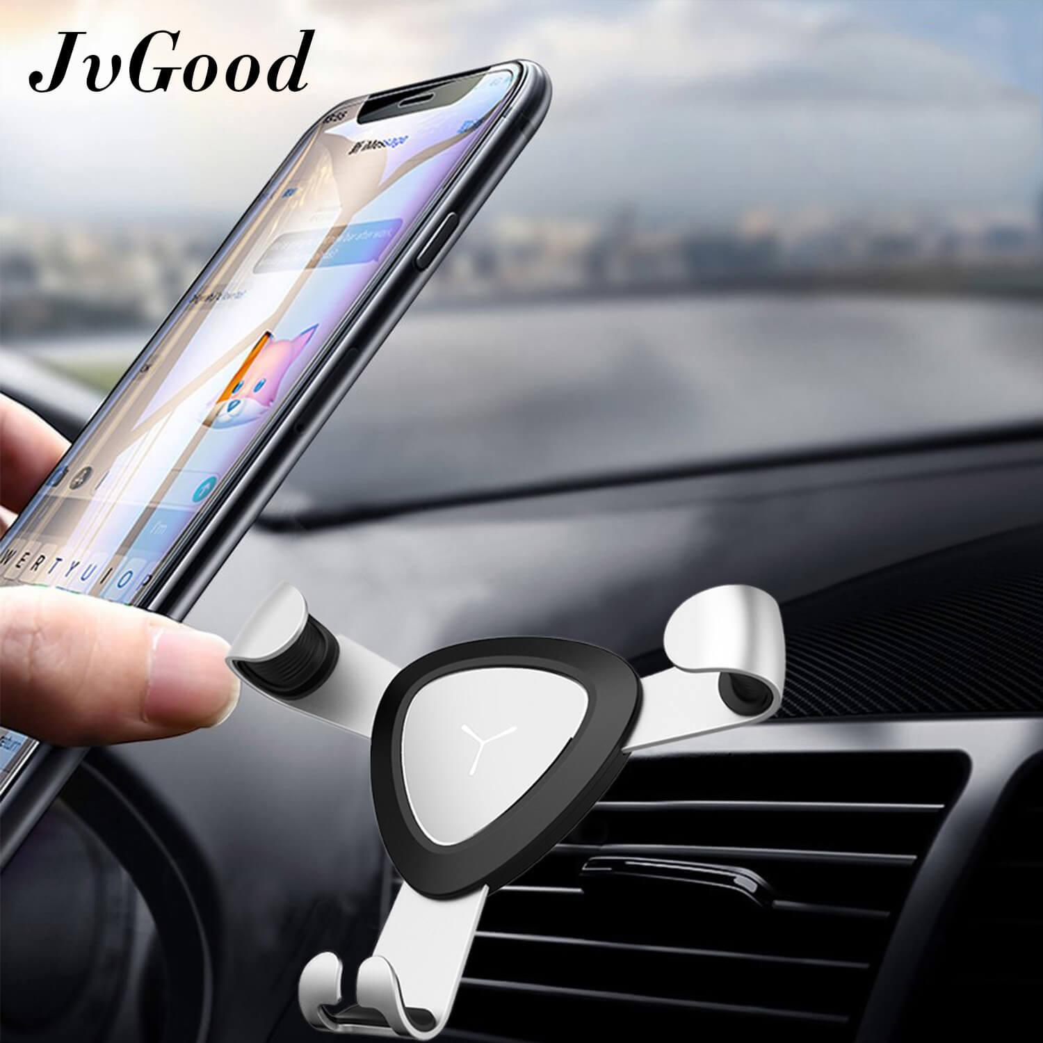 JvGood Air Vent Car mount Gravity Phone Holder for Car Mount Holder Stand Bracket Air Vent Phone Holder Cradle Universal Auto-clamping Auto Lock One-handed Design