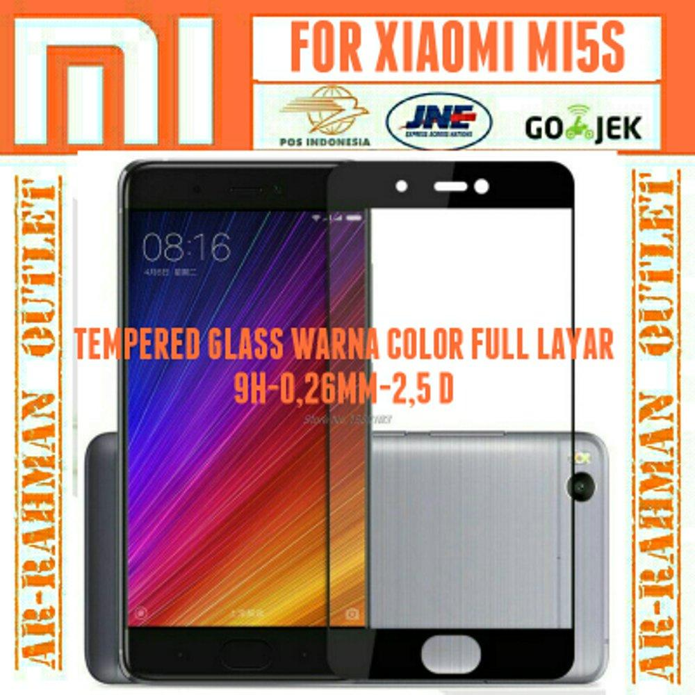 Xiaomi Mi5s mi 5s anti gores kaca film Full layar Hp Tempered Glass warna color Screen guard Protection Protector mi5s Plus 9H di lapak ARRAHMAN OUTLET raihanalbatawi