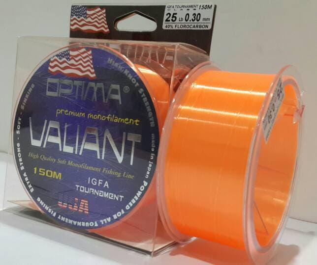 ASLI!!! OPTIMA VALIANT 023mm/12lb 150M (ORANGE) - 0F6Snc